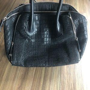 Black alligator bag purse